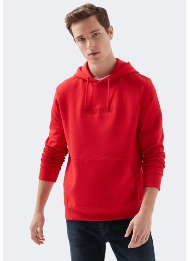 Mavi Team Mavi Kapüşonlu Kırmızı Sweatshirt Kırmızı